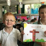 Seweryn and Lydia won a prize in our Easter Art Competition.