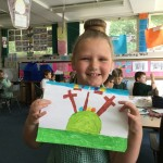 Caitlin was one of the winners of our Easter Art Competition - well done!