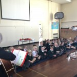 Our Reception children loved singing along with Father Ed during their welcome service!